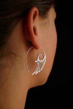 Little Wings Earrings  solid Sterling Silver by sanfranblissco, $39.00