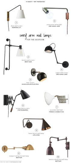 예쁜 벽조명 인테리어 pinterest & 브랜드 추천[SWING ARM WALL LAMPS FOR THE...