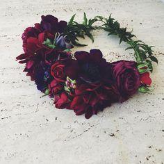 A jewel tone crown for a birthday beauty! #flowergirllosangeles #fgla #laflorist #losangelesflorist #flowercrown
