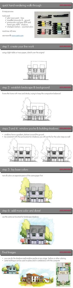 How to Hand-Color an Architectural Elevation