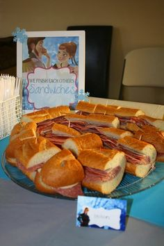 """Frozen party sandwiches-""""we finish each others sandwiches"""""""