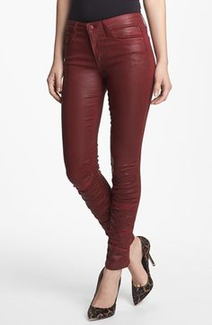 red hot skinny jeans