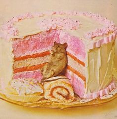 let them eat cake, multi-colored cake. even mice.