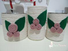 Maria Pimenta Crafts: ♥Reciclando e decorando - Meu quarteto fantástico!♥