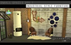Sims 4 CC's - The Best: Small Spaces Industrial Living Set by Daer0n