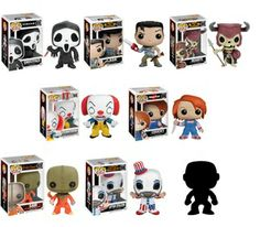 FUNKO POP HORROR set desired: GHOSTFACE- SCREAM ASH- ARMY OF DARKNESS DEADITE- ARMY OF DARKNESS BILLY- SAW CAPTAIN SPAULDING
