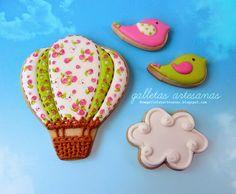 N.M. Galletas Artesanas: Galletas decoradas: globos de patchwork