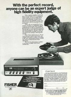 Fisher w/BSR Turntable