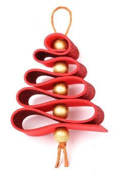New christmas tree decorations ribbon navidad ideas Felt Christmas Decorations, Christmas Ornament Crafts, Christmas Crafts For Kids, Xmas Crafts, Homemade Christmas, Simple Christmas, Kids Christmas, Rustic Christmas, Felt Crafts