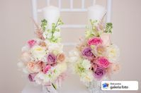 lumanari cununie issamariage valcea 2017 scurte roz pal Wedding Flowers, Wedding Day, Paper Flowers, Glass Vase, Floral Wreath, Wreaths, Table Decorations, Bride, Handmade