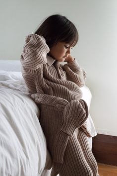 The ultimate comfort clothes, our loungewear sets are fully fashioned knits made with certified organic cotton. Quality clothing done right. Available in sizes 6M-6Y. Ship now at sunnastudios.co Organic Baby, Organic Cotton, Made Clothing, Loungewear Set, Comfortable Outfits, Brown And Grey, Knits, Lounge Wear, Knitwear