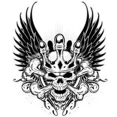 Cool Skull | Pictures » ist2_9328469-brave-skull-and-wings