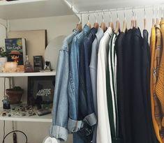 clothes ~ home ~ wardrobe ~ jeans ~ shirt My New Room, My Room, Dorm Room, Bedroom Inspo, Bedroom Decor, Room Goals, Dream Apartment, Interior Decorating, Interior Design
