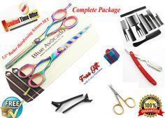 5.5 Professional Hair Cutting Thinning Scissors Shears Barber Salon Hairdressing in Health & Beauty, Salon & Spa, Scissors & Shears | eBay