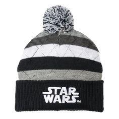 Boys 8-20 Star Wars Striped Beanie, Grey (Charcoal)