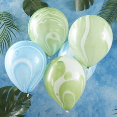 Roarsome Green And Blue Marble Party Balloons by Ginger Ray, the perfect gift for Explore more unique gifts in our curated marketplace. Marble Balloons, Blue Balloons, Latex Balloons, Confetti Balloons, Dinosaur Party Supplies, Dinosaur Birthday Party, Birthday Ideas, Birthday Parties, Balloons Online