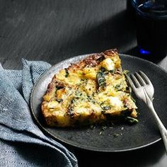 Cauliflower & Kale Frittata - EatingWell.com no cheese and would probably use spinach instead of kale