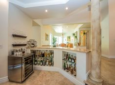 Traditional Bar with Built-in bookshelf & High ceiling in Las Vegas, NV   Zillow Digs