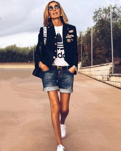 Mode Outfits, Short Outfits, Summer Outfits, Casual Outfits, Fashion Outfits, Womens Fashion, Fashion Over 50, Look Fashion, Spring Summer Fashion