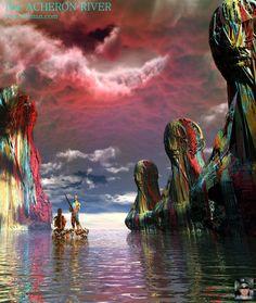 acheron in Mythology Mythology, Painting, Art, Art Background, Painting Art, Kunst, Paintings, Performing Arts, Painted Canvas