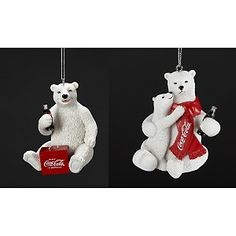 "Coca-Cola 3"" Resin Coke Polar Bear Ornaments at HSN.com. Coca Cola Life, Coca Cola Poster, Coca Cola Polar Bear, World Of Coca Cola, Pepsi Cola, Coke, Coca Cola Christmas, Old Christmas, Christmas Trees"