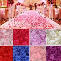 Romantic silk Rose petals for Wedding Decoration, 2000 piece/lot DIY Wedding Supplies Rose Petals Wedding, Silk Rose Petals, Silk Roses, Wedding Flowers, Flower Petals, Wedding Confetti, Wedding Dresses, Artificial Silk Flowers, Fake Flowers