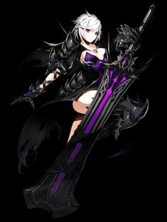 Anime with sword of choice Fantasy Girl, Fantasy Warrior, Fantasy Characters, Female Characters, Character Concept, Character Art, Arte Cyberpunk, Anime Weapons, Another Anime
