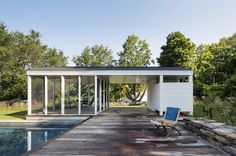 Swimming Pool of the Week: Beautiful Views in the Berkshires - Gardenista Outdoor Spaces, Outdoor Living, Pool Shade, Wooden Decks, Wooden Garden, Pool Houses, Pool Designs, Curb Appeal, Swimming Pools