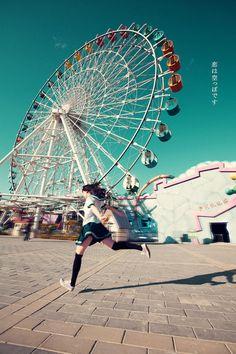seikakuyoshiko: blendy99: 観覧車とミニスカート