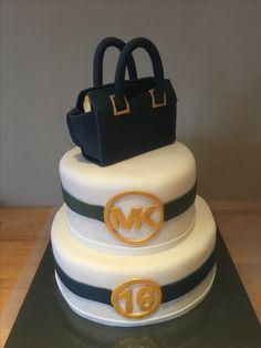 Sweet sixteen Michael Kors Selma bag cake.