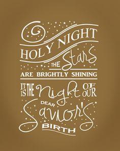 free printable: O Holy Night