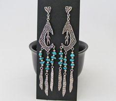 Vintage Sterling Silver Earrings Big Bold by DesertEarthJewelry