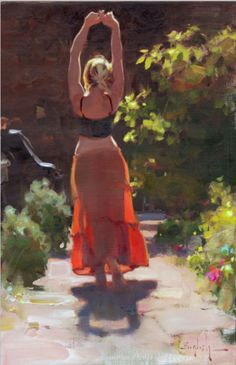 Kim English oil painting