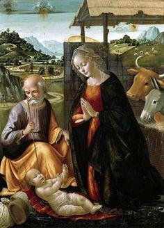 Domenico Ghirlandaio (1449-1494) — The Nativity, c. 1492 : Fitzwilliam Museum,Cambridge. England (611x850)