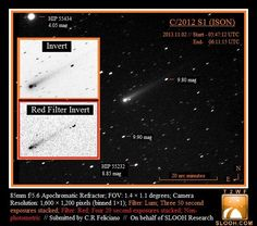 2013 Nov 2: C/ISON observed by Slooh Space Camera (Canary Island) (Posted by Christina Feliciano-Rivera on behalf of Slooh Research Group).