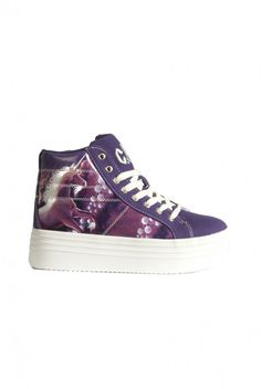 Purple Unicorn Platform Sneaker Platform Sneakers, High Top Sneakers, Indie Fashion, Vintage Fashion, Purple Unicorn, Converse Chuck Taylor, Me Too Shoes, Dragonflies, Unicorns