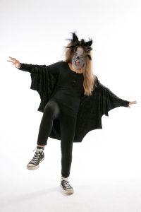 Kostenlose Fledermaus-Kostüm basteln zum Basteln
