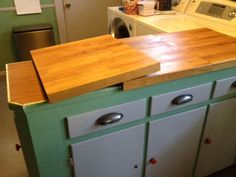 """Using Lamplig cutting board as an ugly counter top cover. But what to do if your tops are 23""""?"""