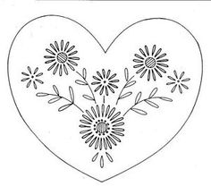 Free Hand Embroidery Patterns Heart | image not available photos not available for this variation