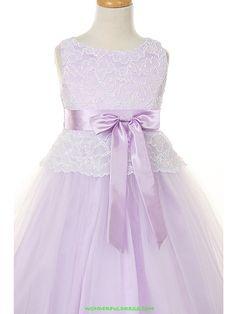 Lavender Flower Girl Dresses   Flower Girl Dresses, Communion Dresses, Pageant Dresses - Lilac Lace ...
