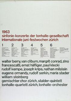 1963 Sinfonie Konzerte    Design – Josef Müller-Brockmann