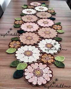 Crochet Table Runner Pattern, Crochet Placemats, Crochet Doily Patterns, Crochet Mandala, Crochet Motif, Crochet Doilies, Crochet Flowers, Free Crochet, Diy Crafts Crochet