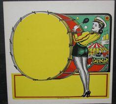 Vintage Carnival Poster:Printer's Template