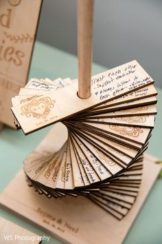 15 Wood Wedding Guest Books You'll Love a copper stand with lots of wooden planks with burnt hearts and wishes from your guests The post. Wooden Wedding Guest Book, Wood Guest Book, Wedding Book, Diy Wedding, Wedding Favors, Wedding Gifts, Guest Book Ideas For Wedding, Diy Guest Books, Wedding Ideas For Guests