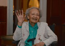 """Rest In Peace and Thank you! Augusta Marie Chiwy (6 June 1921 – 23 August 2015) was a Belgian nurse who served as a volunteer during the siege of Bastogne. She worked with US Army doctor John """"Jack"""" Prior and fellow Belgian nurse Renee Lemaire, treating injured soldiers during the Battle of the Bulge"""