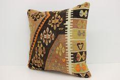 Decorative Kilim Pillow Cover 20 x 20 Organic by kilimwarehouse Kilim Pillows, Throw Pillows, Geometric Pillow, Modern Decor, Oriental, Pillow Covers, Organic, House Design, Decoration