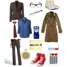 """The 10th Doctor :]"" by theatricalfanatical on Polyvore @ Rachel Jensen. Here is your halloween costume! The I <3 NNNNNNNNNNY tee shirt is hilarious!"