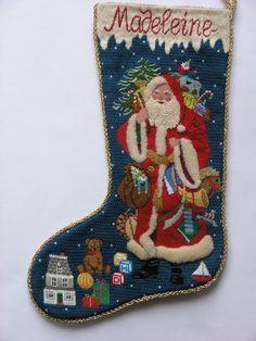 Victorian Santa stocking for my daughter, Madeleine