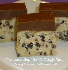 Chocolate Chip Cookie Dough Bars {Secret Recipe Club}