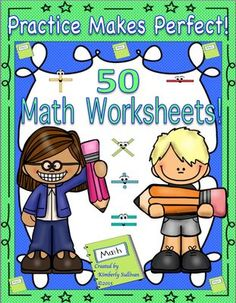 Math Practice Book! Common Core! 50 worksheets! Early finishers! Grades 4-6 from Kimberly Sullivan on TeachersNotebook.com -  - Common Core! 50 math printables! Grades 4-6  Math centers, homeschool, review, tests, quizzes, workbook, and whole class review!